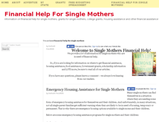 singlemothersfinancialhelp.com screenshot