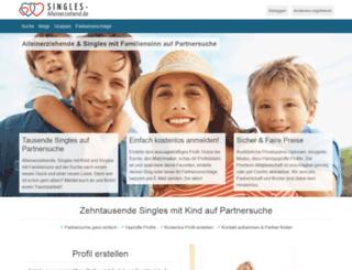 singles-alleinerziehend.de screenshot