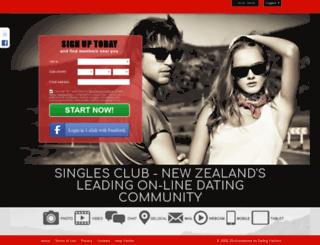 singlesclub.co.nz screenshot