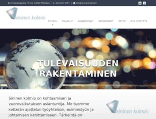 sininenkolmio.fi screenshot