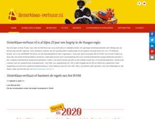 sinterklaas-verhuur.nl screenshot