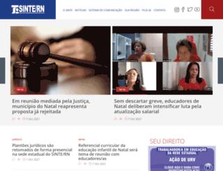 sintern.org.br screenshot
