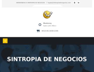sintropia.com.mx screenshot