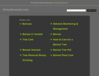 sirayabonsai.com screenshot
