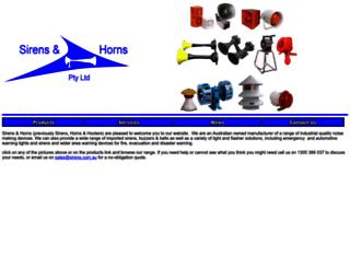 sirens.com.au screenshot