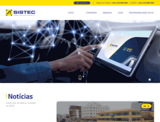 sistec.co.ao screenshot