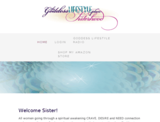 sisterhood.goddesslifestyleplan.com screenshot