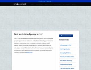 Site2unblock Com Screenshot