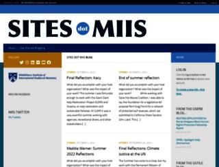 sites.miis.edu screenshot