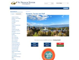 sites.stfx.ca screenshot