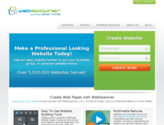 sitespawner.com screenshot