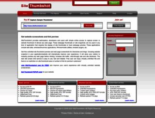 sitethumbshot.com screenshot