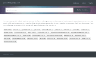 siteworthaustralia.com screenshot