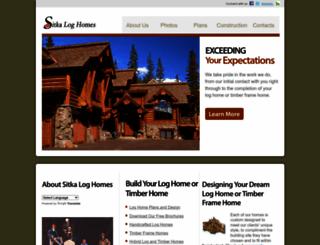 sitkaloghomes.com screenshot