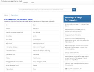 situslowongankerja.net screenshot