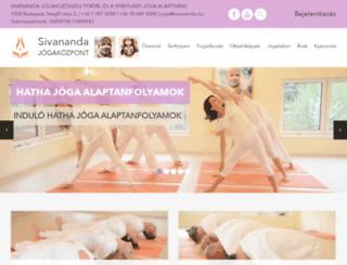 sivananda.hu screenshot