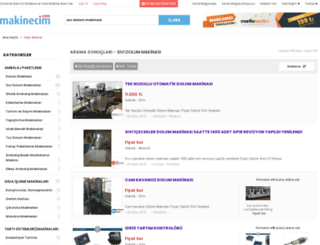 sividolummakinasi.makinecim.com screenshot