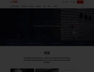 six-swiss-exchange.com screenshot