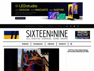 sixteen-nine.net screenshot