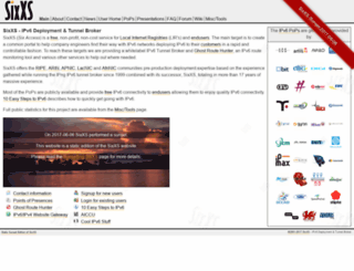 sixxs.net screenshot