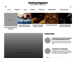sizzlingmagazine.com screenshot