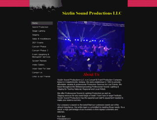 sizzlinsoundsproductions.com screenshot
