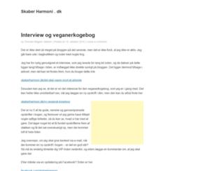 skaberharmoni.dk screenshot