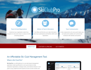 skiclubpro.com screenshot
