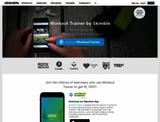 skimble.com screenshot