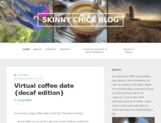 skinnychickblog.com screenshot