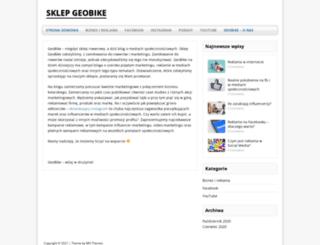 sklepgeobike.com.pl screenshot