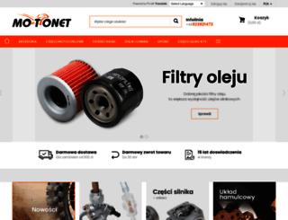 sklepmotonet.pl screenshot