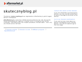 skutecznyblog.pl screenshot
