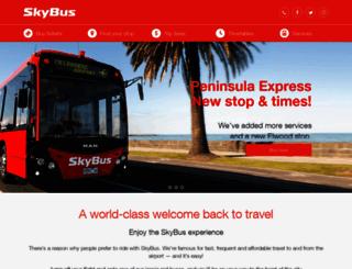 skybus.com.au screenshot