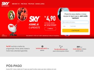 skycentraldeassinatura.com.br screenshot