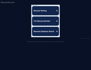 skycvcenter.com screenshot