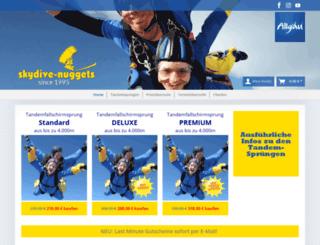 skydive-nuggets.de screenshot