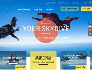 skydivebyronbay.com screenshot