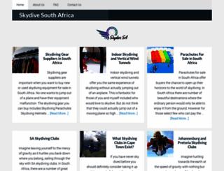 skydivesouthafrica.co.za screenshot