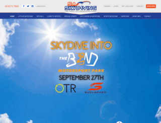 skydiving.com.au screenshot
