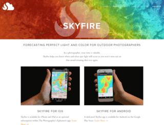 skyfireapp.com screenshot