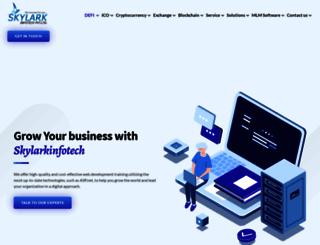 skylarkinfotech.com screenshot