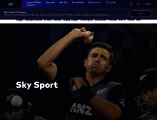 skysport.co.nz screenshot