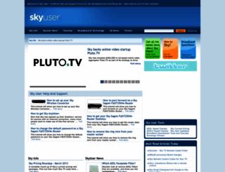 skyuser.co.uk screenshot