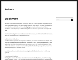 slackware.org screenshot