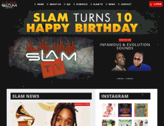 slam101fm.com screenshot