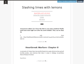slashlimeswithlemons.tumblr.com screenshot