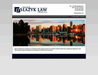 slazyklaw.com screenshot