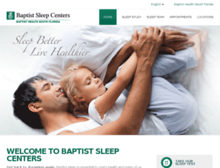 sleep.baptisthealth.net screenshot