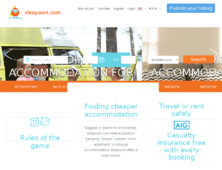 sleepoon.com screenshot